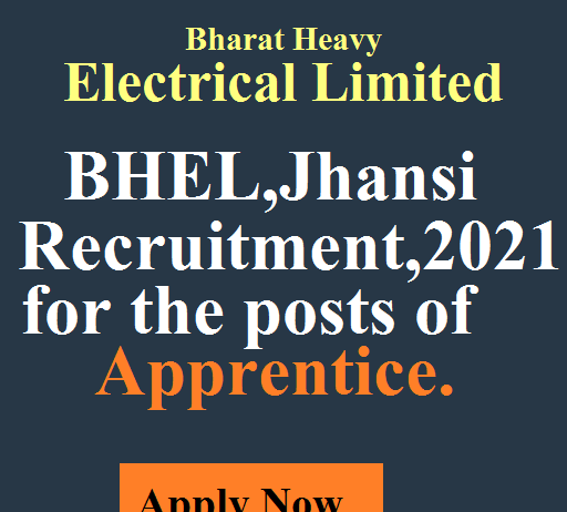 BHEL Apprentice 2021 Recruitment