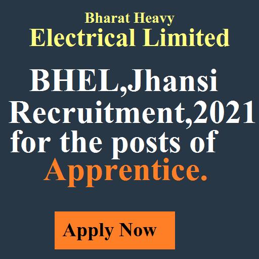 BHEL Apprentice 2021 Recruitment