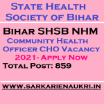 Bihar SHSB NHM CHO