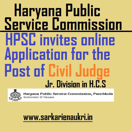 HPSC Civil Judge Recruitment 2021