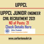 UPPCL Junior Engineer Civil