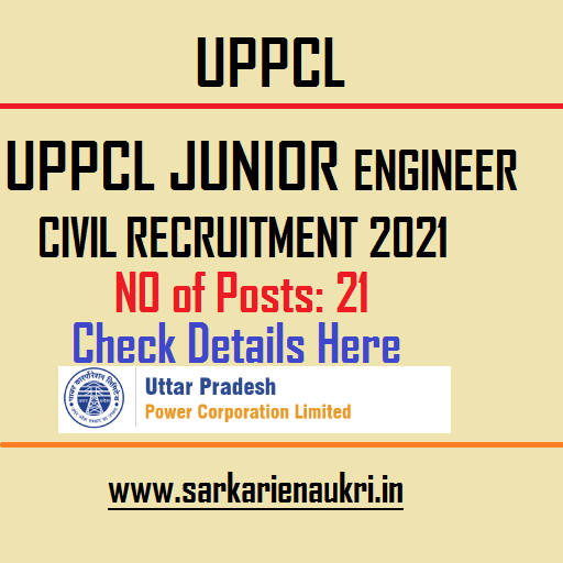 UPPCL Junior Engineer Civil