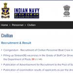 Indian Navy Tradesman Recruitment 2021 new