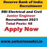 RBI JE Recruitment 2021