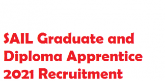 SAIL Apprentice 2021 vacancy