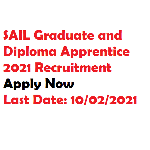SAIL Apprentice 2021 vacancy