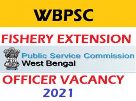 WBPSC FEO Recruitment 2021