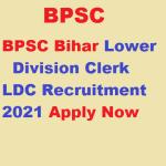 BPSC Bihar LDC vacancy 2021