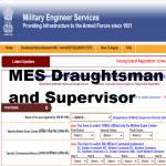MES Draughtsman and Supervisor