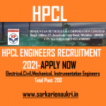 hpcl engineer recruitment 2021