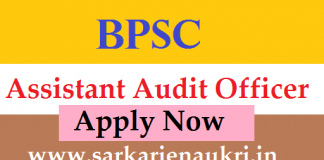 BPSC Bihar Assistant Audit Officer Vacancy 2021