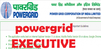 powergrid executive trainee recruitment 2021
