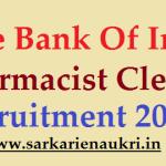 sbi pharmacist recruitment 2021
