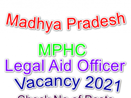 MPHC Legal Aid Officer 2021