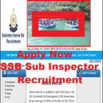 SSB Sub inspector recruitment 2021