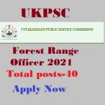 Apply for forest range officer 2021