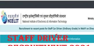 NIELIT Driver recruitment 2021