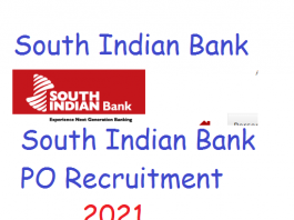 South Indian Bank PO Recruitment 2021